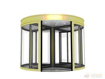 四翼和三翼旋转门其制造工艺完全相同,其主要区别在于:四翼门门洞最